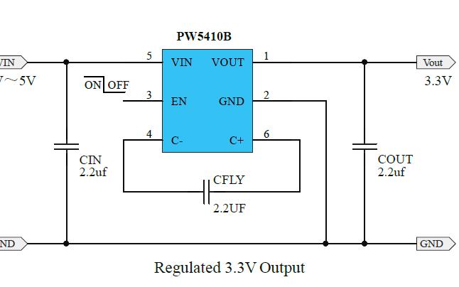 PW5410B稳压电荷泵DCDC转换器的数据手册免费下载