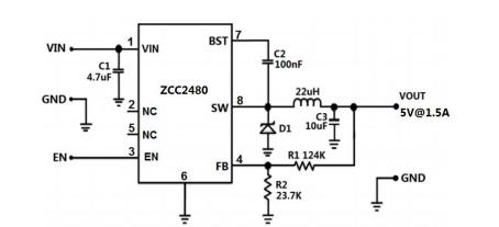 耐压36v/60v/80v的DCDC降压芯片