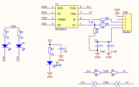 N76E616单片机开发板的电路原理图免费下载