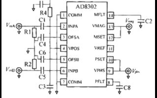 可实现测量幅度和相位差的AD8302芯片的性能特点和应用分析