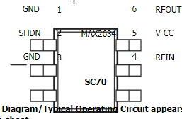 MAX2634低噪声放大器的性能特点和应用范围