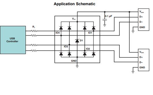 TPD4E004低电容瞬态电压抑制TVS装置的数据手册免费下载
