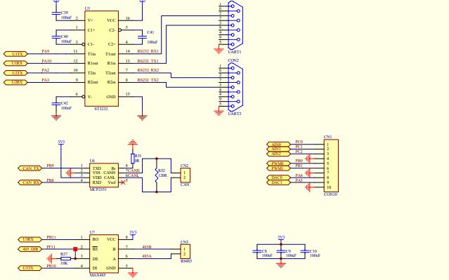 STM32F103ZET6开发板的电路原理图和PCB资料免费下载