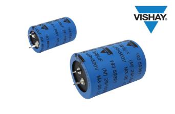Vishay推出卡扣式功率铝电容器提高功率密度,延长使用寿命