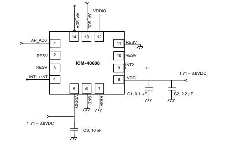 ICM-40608六轴传感器的数据手册免费下载