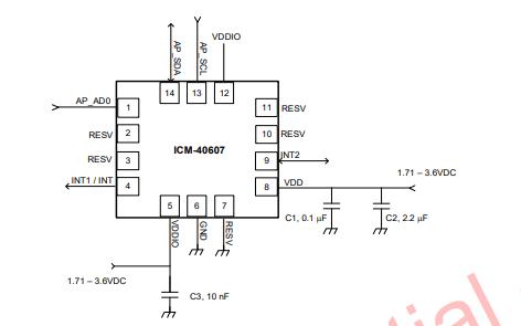 ICM-40607六轴传感器芯片的数据手册免费下载