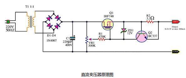 直流变压器正负极怎么分_直流变压器的基本电路结构