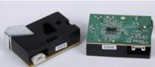 灰尘传感器DSM501可以检测出单位体积粒子的个...