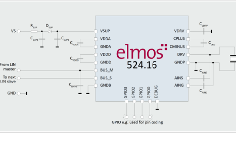 E524.16直驱智能LIN超声波传感器集成电路的数据手册免费下载