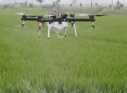 植保无人机喷头防喷洒农药雾粒在空中分布情况
