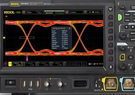 混合信号数字示波器支持实时眼图测量和抖动分析