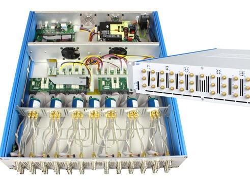 基于工业标准LXI/以太网接口的紧凑型机架安装的多路复用器