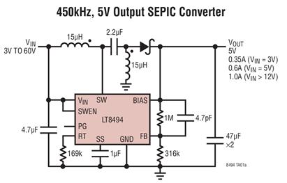 升压型DC/DC转换器LT8494的性能特点和应...
