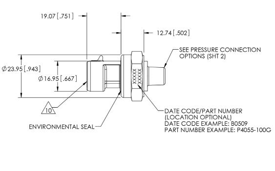 P4055压力传感器的数据手册免费下载