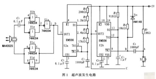 數字式超聲波測距儀的工作原理和電路設計
