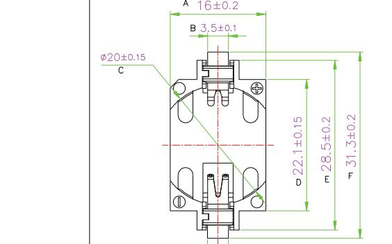 钮扣电池座CR2032的结构原理图免费下载
