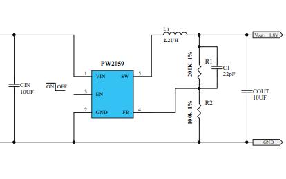 PW2058和PW2059降壓轉換器的數據手冊免費下載