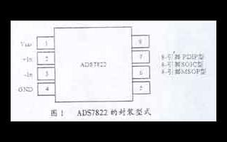 12位串行高速A/D转换器ADS7822的功能特...
