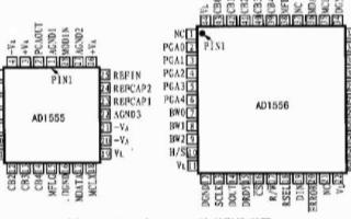 24位∑-Δ模数转换器AD1555/6的功能特性...