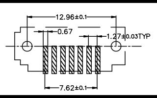 SATA连接器7PIN180度立式贴板规格原理图免费下载