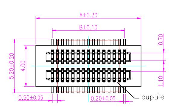 板对板汽车连接器双槽0.5间距公母座的规格原理图免费下载