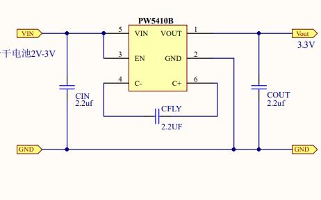PW5410B和PW5100干电池升压电路图和PCB资料免费下载