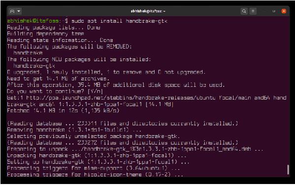 干货:Ubuntu虚拟技术使用PPA安装最新版本的HandBrake
