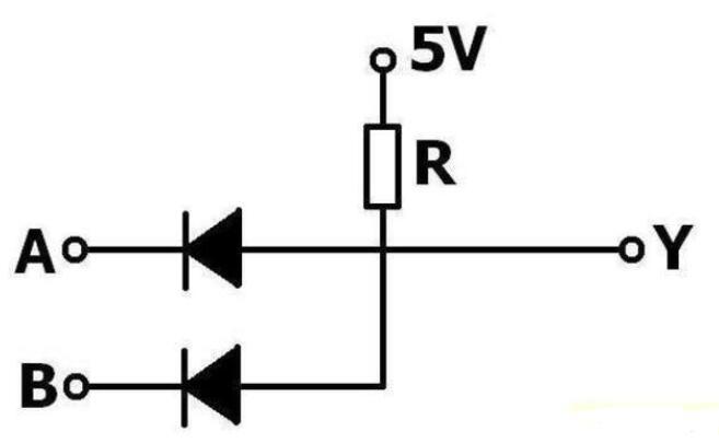 如何用二极管搭建与门电路