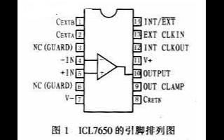 斩波稳零式高精度运放ICL7650的工作原理及应...