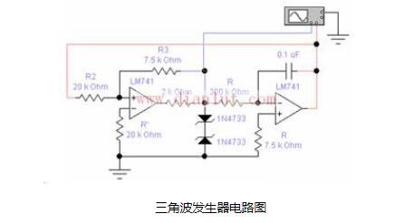 两个单元电路可以同时安装的三角波发生器电路