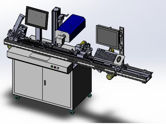 智能卡全通道式激光标识系统可以实现不同数据的喷印...