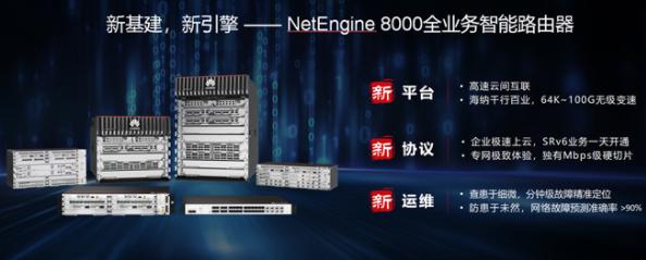 華為NetEngine 8000全業務智能路由器助力百萬企業上云
