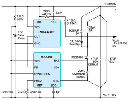 用電流檢測放大器替代儀表放大器實現在電路中的應用