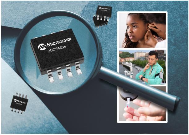 Microchip推出4 Mb串行EEPROM存储器,成为迄今为止存储密度最高的产品