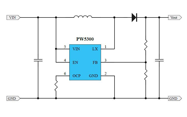 PW5300升壓電流模式PWM轉換器
