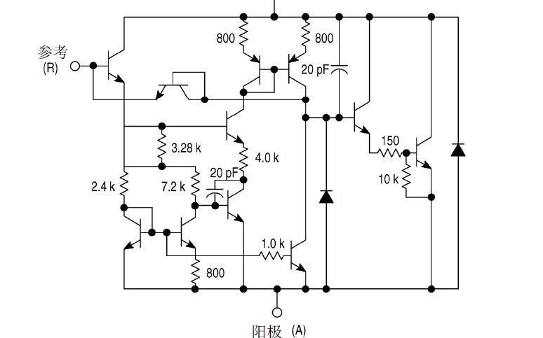 TL431系列可控精密穩壓源芯片的數據手冊免費下載