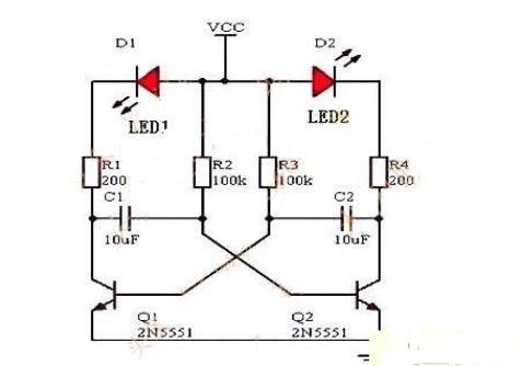 閃爍頻率為2Hz的閃光電路的設計方法