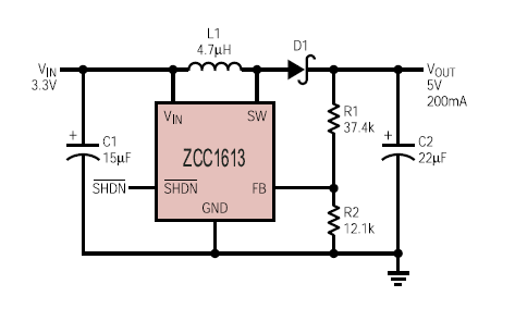 DCDC轉換器Zcc1613的數據手冊免費下載