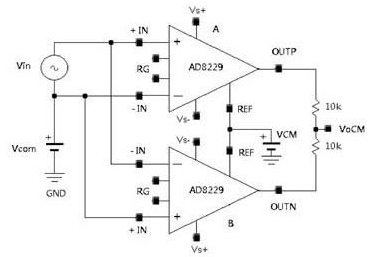 差分放大器的等效高溫解決方案