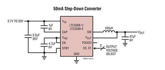 基于LTC3388設計的低功率醫療電源電路