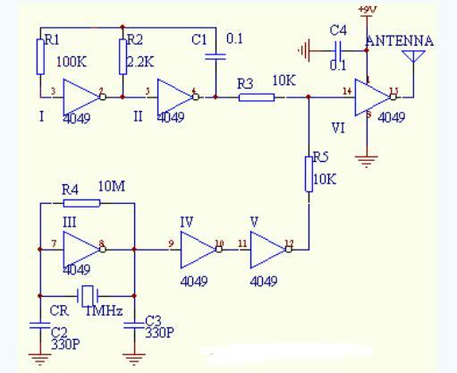 簡易AM發射機電路原理圖