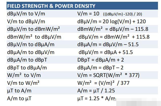 常见的EMC公式有哪些
