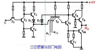 三态逻辑与非门电路图三种状态分析