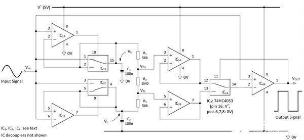 可根據輸入信號幅度實現自動調整觸發閾值的施密特觸發器電路的設計