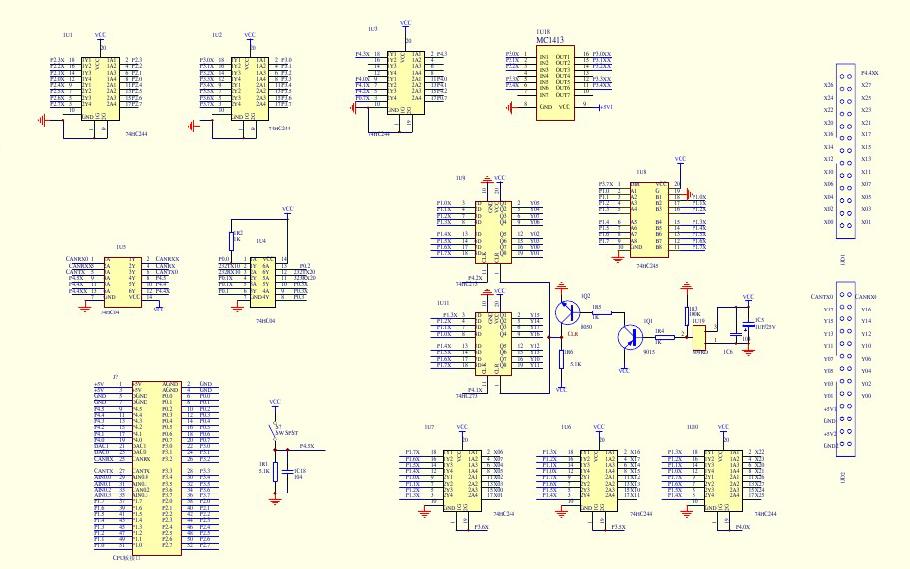 使用单片机制作的PLC电路原理图免费下载