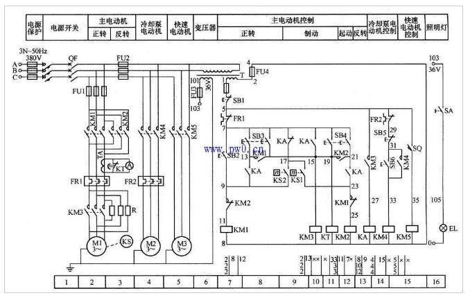 C650通常车床继电触摸器操控电路