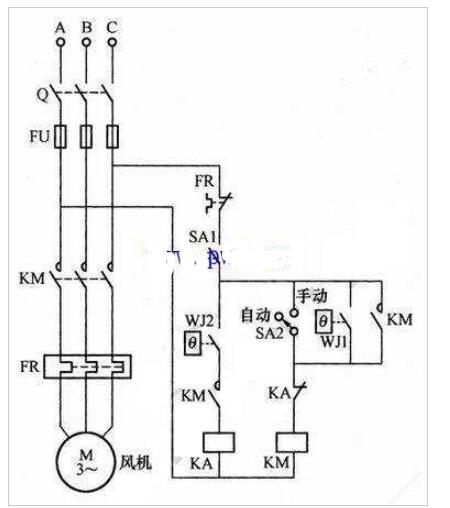 变压器主动风冷操控电路