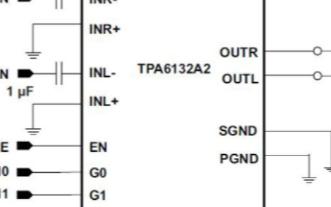 TPA6132A2正向单端放大器的连接方法和注意...