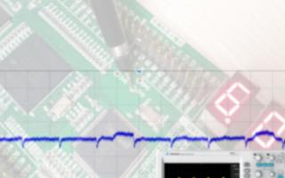 采用ZDS2024 Plus示波器进行电源纹波的测试
