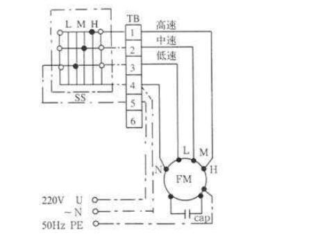 单相三速电机和三相三速电机的接线图